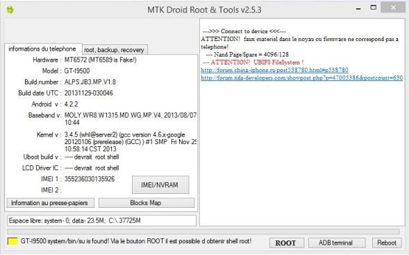 MTK DROID GRATUIT TÉLÉCHARGER ROOT TOOLS V2.5.3